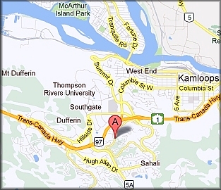 Kamloops Acupuncture Clinic location. Click to enlarge.